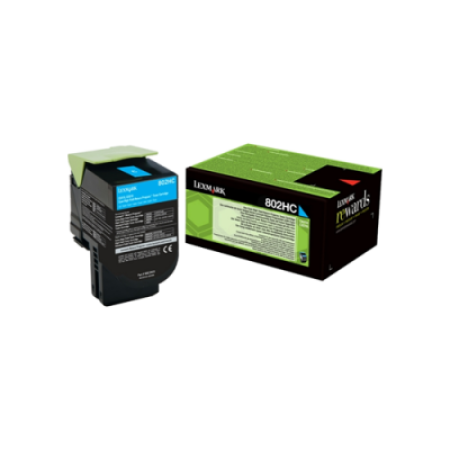 Lexmark 802HC Cyan Return Program Toner Cartridge (3K)
