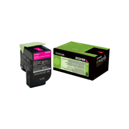 Lexmark 802HM Magenta Return Program Toner Cartridge (3K)