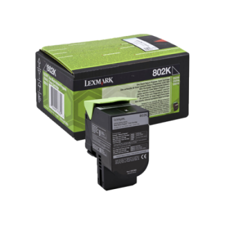 Lexmark 802K Black Return Program Toner Cartridge (1K)
