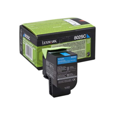 Lexmark 802SC Cyan Return Program Toner Cartridge (2K)