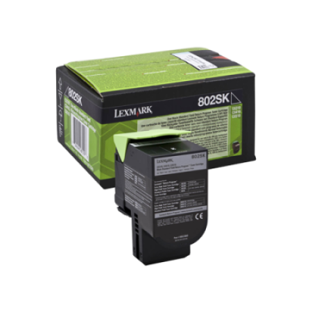 Lexmark 802SK Black Return Program Toner Cartridge (2.5K)