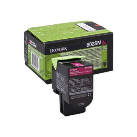 Lexmark 802SM Magenta Return Program Toner Cartridge (2K)