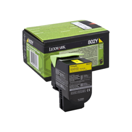 Lexmark 802Y Yellow Return Program Toner Cartridge (1K)