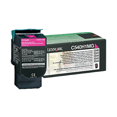 Lexmark C540H1MG HC Magenta Return Toner Cartridge