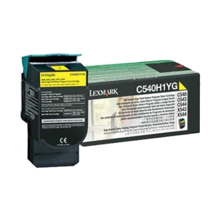 Lexmark C540H1YG HC Yellow Return Toner Cartridge