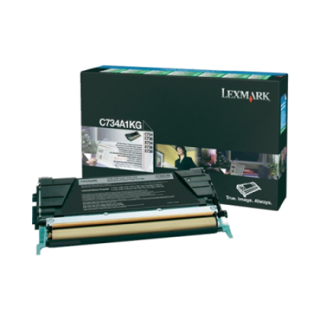Lexmark C734A1KG Black Return Toner Cartridge