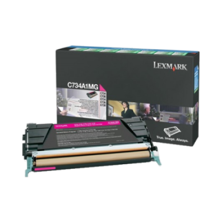 Lexmark C734A1MG Magenta Return Toner Cartridge