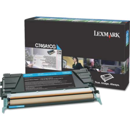 Lexmark C746A1CG Return Cyan Toner Cartridge