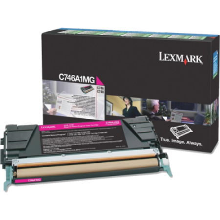 Lexmark C746A1MG Return Magenta Toner Cartridge