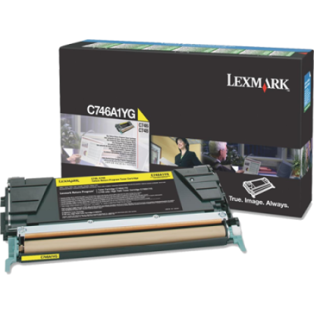 Lexmark C746A1YG Return Yellow Toner Cartridge