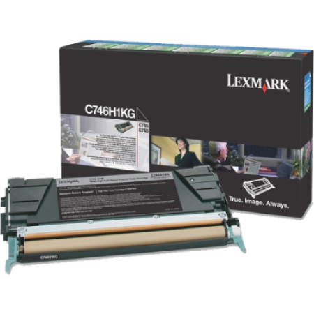 Lexmark C746H1KG High Capacity Return Black Toner Cartridge