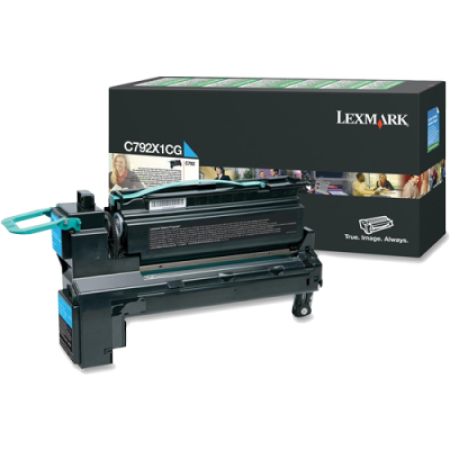 Lexmark C792 Cyan Return HC Toner Cartridge