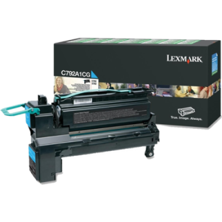 Lexmark C792 Cyan Return Toner Cartridge