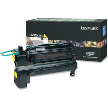 Lexmark C792 Yellow Return HC Toner Cartridge