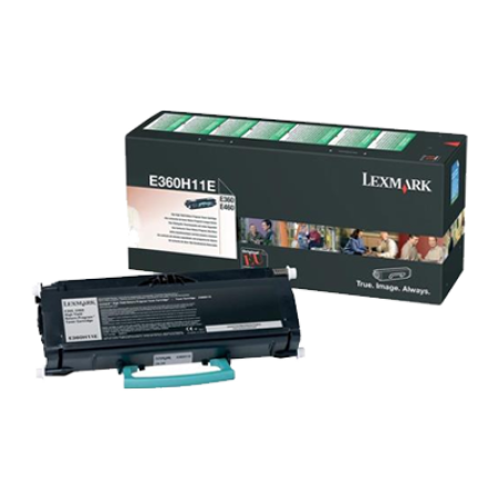 Lexmark E360H11E Black High Yield Toner Cartridge (Return Program)