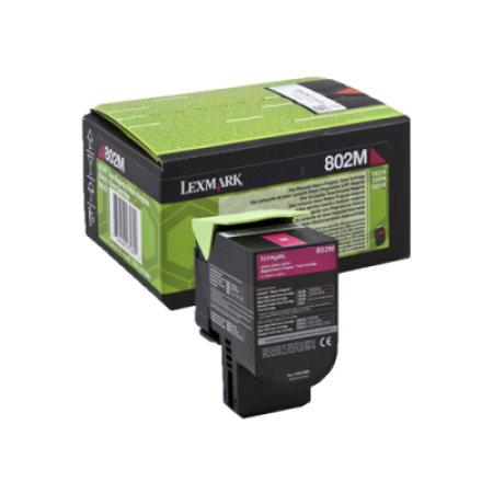 Lexmark 802M Magenta Return Program Toner Cartridge (1K)