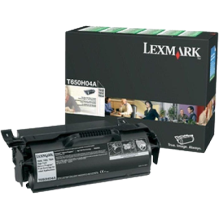 Lexmark T650H04E High Capacity Label Return Black Toner Cartridge