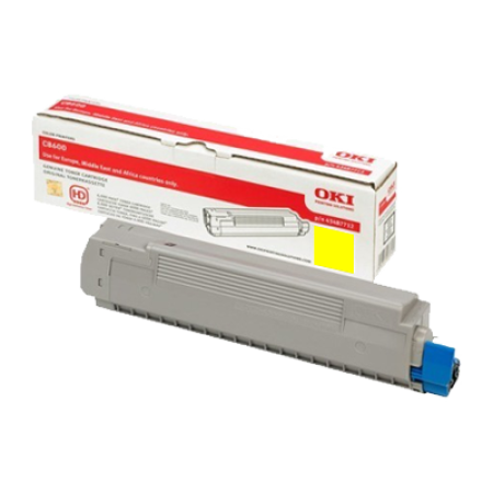 OKI 43487709 Yellow Toner Cartridge