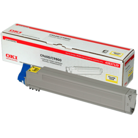 OKI 43837129 Yellow Toner Cartridge