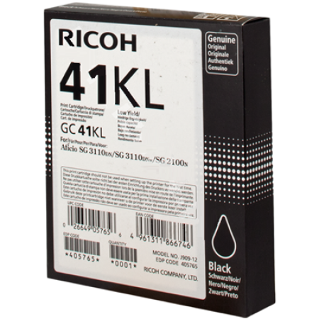 Ricoh GC41KL Gel Ink Cartridge 405765 Black Original