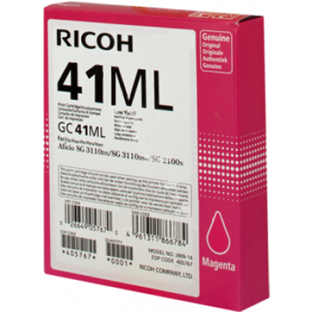 Ricoh GC41ML Gel Ink Cartridge 405767 Magenta Original