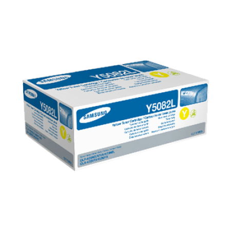 Samsung CLT-Y5082L Yellow High Capacity Toner Cartridge
