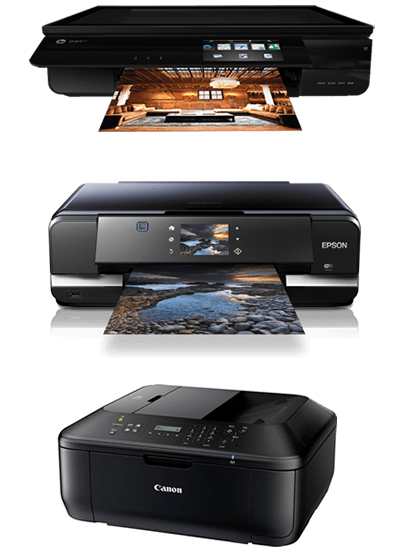 hp envy 120, epson cp950 and canon mg3550