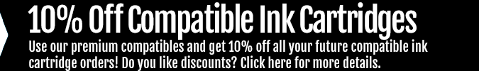 Get 10% off compatible ink orders