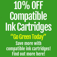 go green and try compatible ink