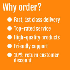 Fast delivery, top rated customer service, high quality products, 10% return customer discounts